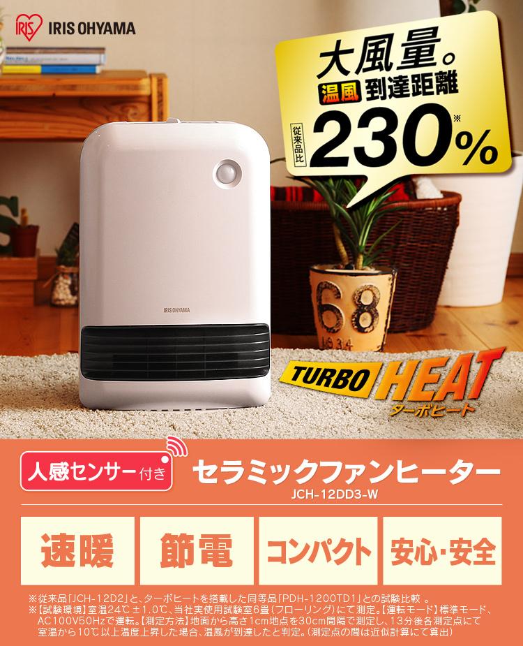 IRIS OHYAMA 電気ファンヒーターをトイレで使うとかなり暖かいのだ。